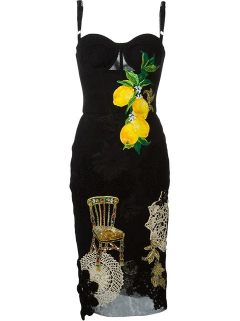 Dolce & Gabbana rose print ruffled dress - Negro farfetch el-negro HlCwSnjXv