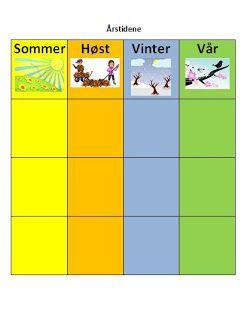 The seasons/Årstidene | Less Commonly Taught