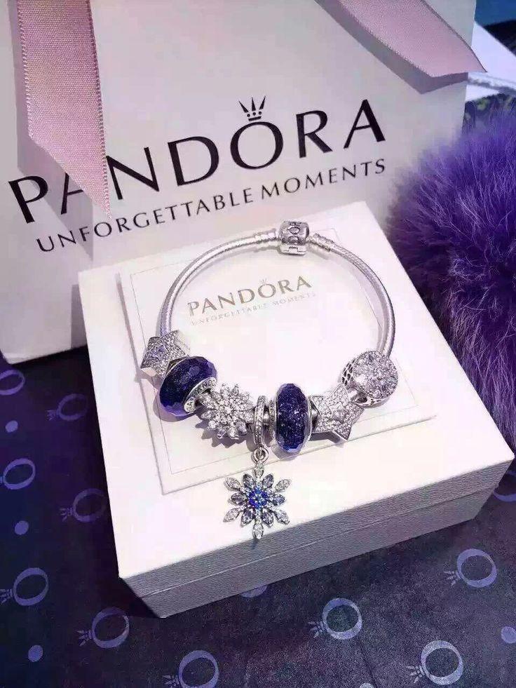 50% OFF!!! $199 Pandora Charm Bracelet Blue. Hot Sale!!! SKU: CB01978 - PANDORA Bracelet Ideas