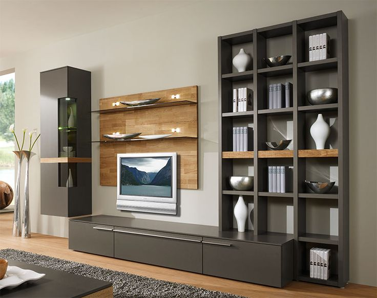 furniture plain cream wall paint color background with brown wall unit storage also fur rug design practical wall unit storages ideas for tidiness and