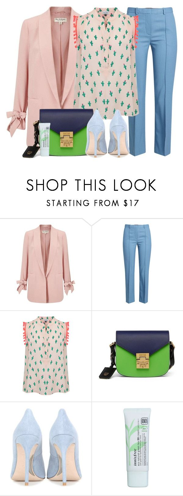 """Spring Fashion #3"" by ella178 ❤ liked on Polyvore featuring Miss Selfridge, Theory, Mercy Delta, MCM, Miu Miu, Innisfree, pastel, springfashion, springlooks and innisfreenaturalbbcream"