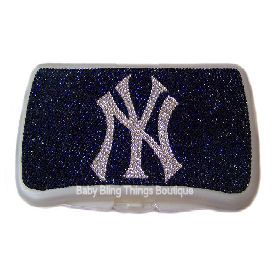 NY Yankees baby wipe case! If I ever have kids someone Please get this for me!