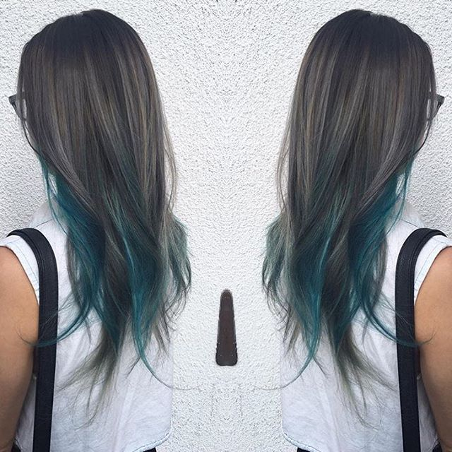 Lovely Teal Balayage by Stylist Dominique Partida our of Berlin Salon in Uptown Whittier, CA. Amazing transformation made possible with the help of #Simpleplex by Victoria Ashley! No compromising hair integrity and protecting hair from the inside out. For more information please visit and order samples today http://victoriaashley.com/pricing/
