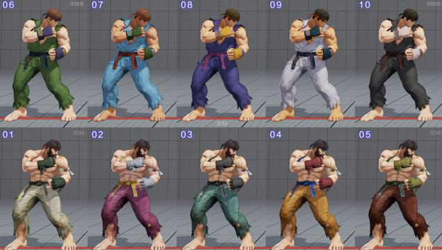 All of Street Fighter V's Costumes So Far In Every Color