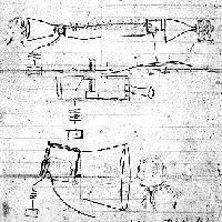 Alexander Graham Bell's design sketch of the telephone, ca. 1876.