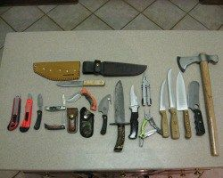 If you're like me, you're probably knife poor. I like knives and all kinds of blades, but sometimes they don't like me. I have a tendency to get cut. Imagine that.Among all the survival tools we could amass, I highly suspect that knives