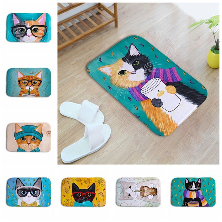 >> Click to Buy << New Kawaii Welcome Floor Mats Cat Animal Print Bathroom Kitchen Carpets Children Doormats for Living Room Anti-Slip Tapete Rugs #Affiliate