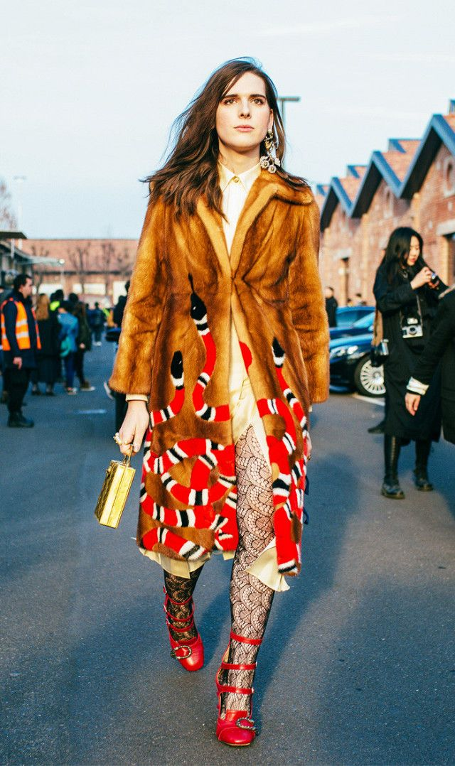 Milan Fashion Week street style: Hari Nef in Gucci