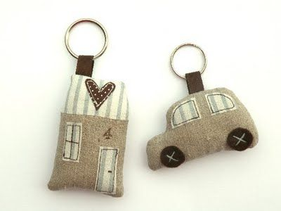 House and Car key chain