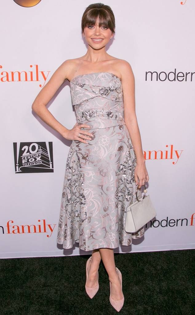 Pretty and Poised from Fashion Police Sarah Hyland looks elegant in