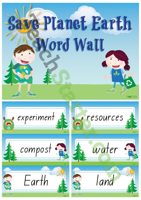 Save Planet Earth – Science Word Wall Vocabulary Teaching Resource