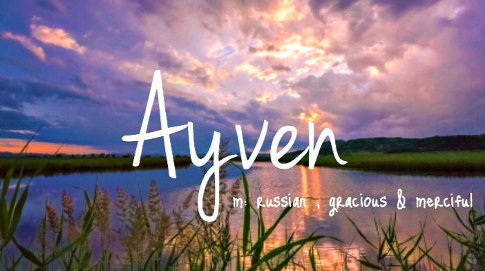 Ayven - baby name! Great for a boy or girl :)