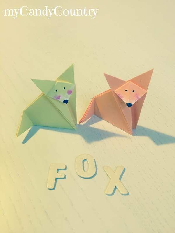 *Come creare una volpe di origami. * Tutorial creativo per realizzare una simpatica volpe di origami.  #origami #volpe #mycandycountry #diycrafts #tutorial  Seguimi su: www.mycandycountry.it