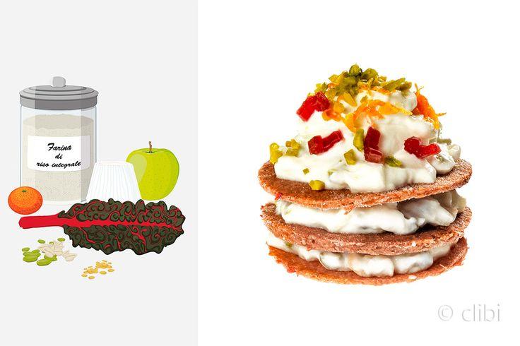 Millefoglie di bietole rosse con preziosi semi di girasole e lino senza glutine e latticini. http://clibi.net/2016/01/13/millefoglie-salata-senza-glutine/ http://clibi.net/english-version/cream-slice-salt-gluten-free/