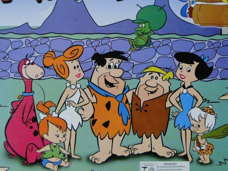 Fred Flintstone and Betty Rubble   Fred Flintstones E Barney Rubble 08 Bonecos