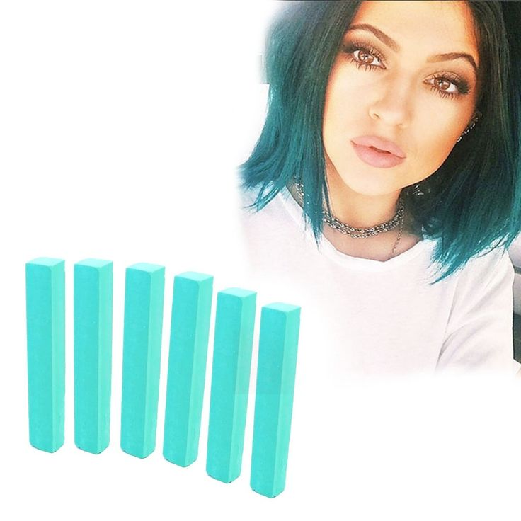Mint Green Hair Dye | FROZEN MINT hair chalk set of 6 | HairChalk  Mint Green Hair Color for your temporary hair dying fun! A complete 6 Hair Chalk Teal Mint hair kit