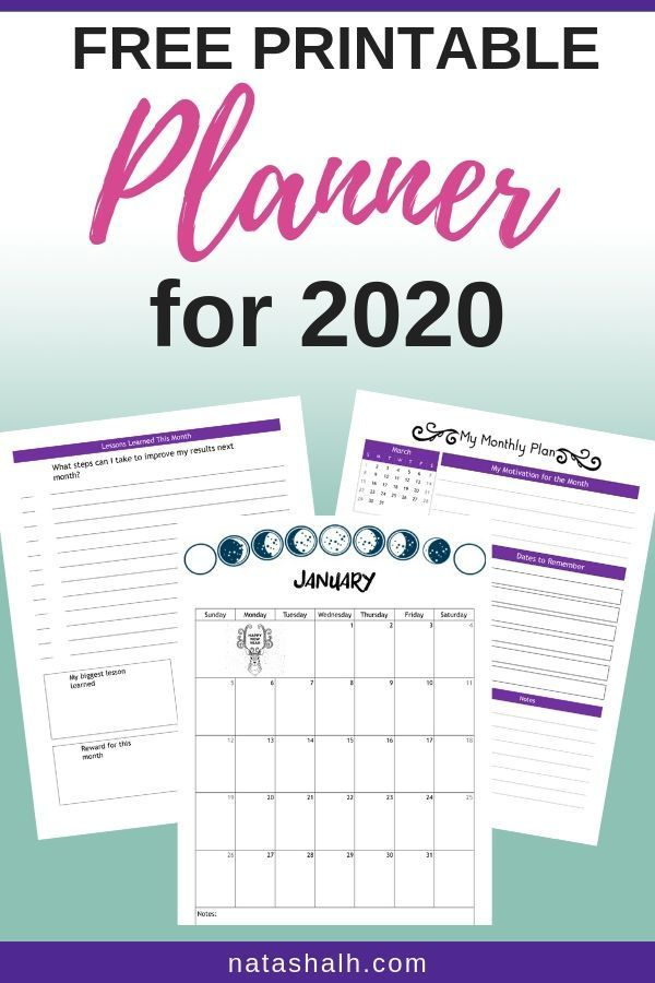 Best Start Pages 2020 Free Planner Printables for Your Best Year 2020 & 2019 | Organize