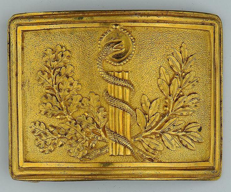 PLAQUE DE CEINTURON DU SERVICE DE SANTÉ, MODÈLE DU PREMIER VENDÉMIAIRE AN XII (MODÈLE 1804), PREMIER EMPIRE.
