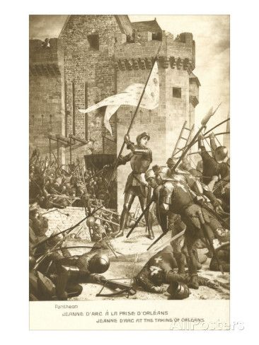 Scene of Jeanne d'Arc in Battle Giclee Print at AllPosters.com