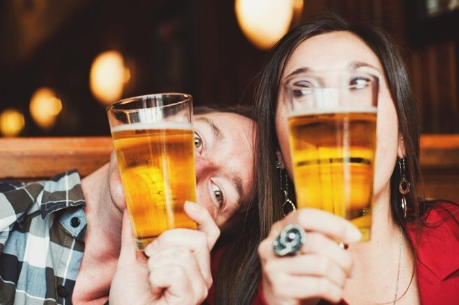 Breckenridge Engagement Session with Beer and Laughs | June Cochran Photography - I love how goofy this couple is, and they incorporated beer and coffee! @Naomi Ernest