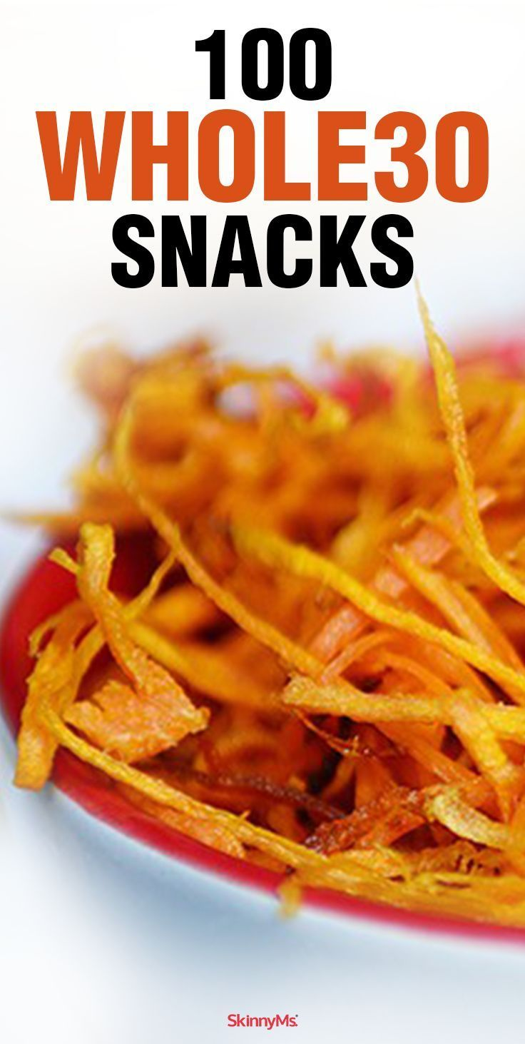 We�ve compiled a list of 100 Whole30 foods that�ll hold you over between meals. Clean, nutritious, and wholesome, these scrumptious snacks will help you stay on track and get you through the Whole30 program victoriously!