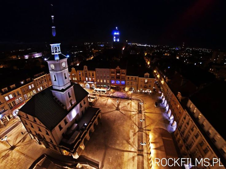 Gliwicki Rynek piękny o zmierzchu  (fot. ROCKFILMS) #gliwice