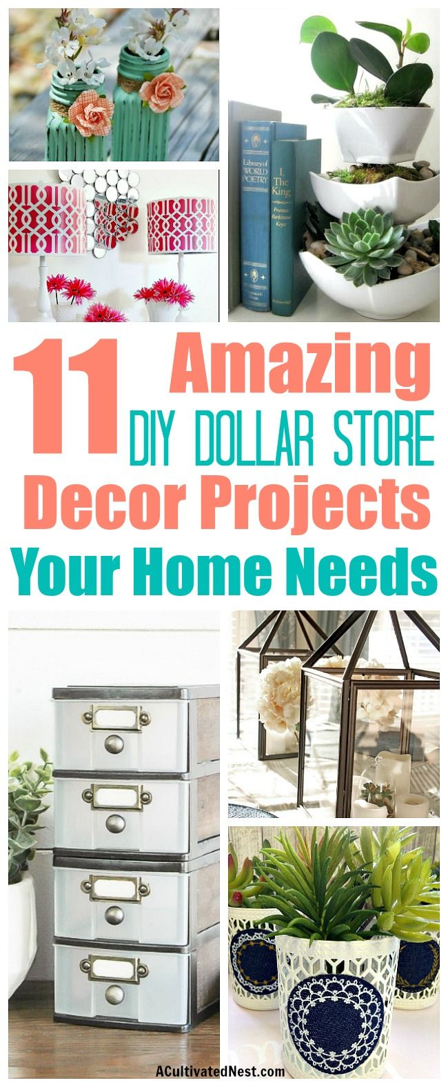 11 DIY Dollar Store Home Decorating Projects