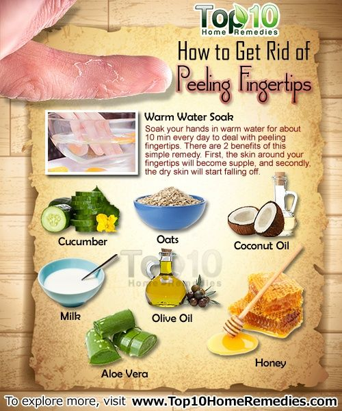 How to get rid of peeling fingertips