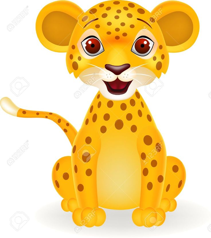 Animals For > Cute Cartoon Baby Leopard | Craft - Kid ...