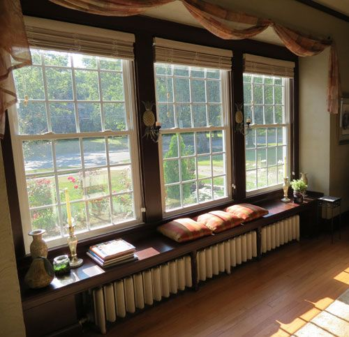 Window treatments for double hung windows