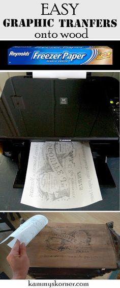 Transfers Wood Inkjet Printer