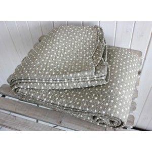 Biggie Best Single Grey Linen Hearts Quilt