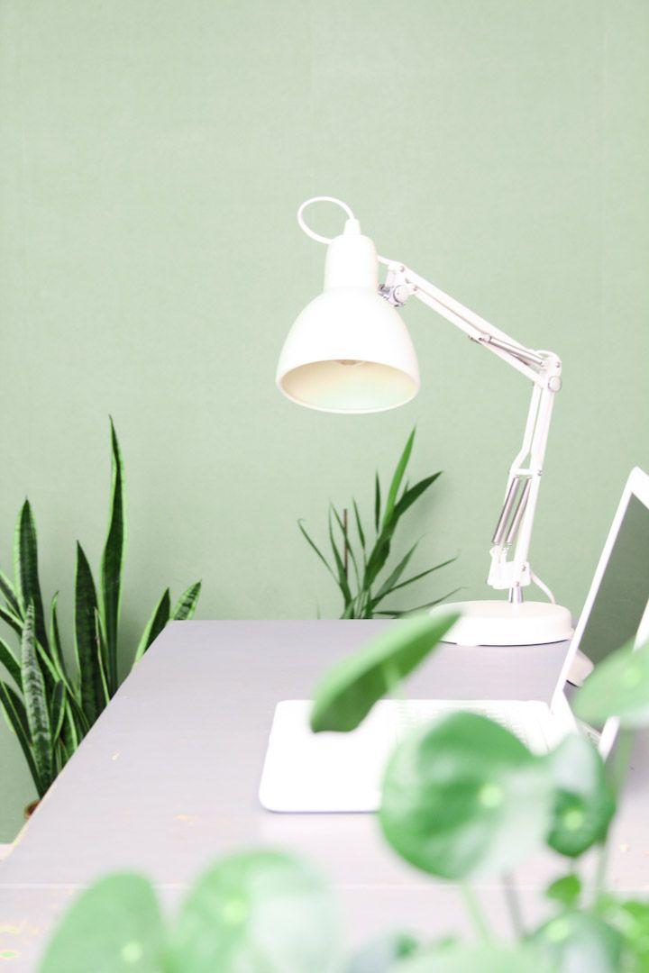 Retro bureaulamp wit / schaarlamp