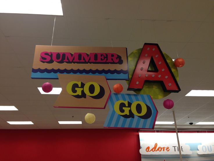 Target's in-store graphics