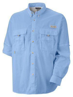 Columbia Bahama II Long Sleeve Shirt with Omni-Shade for Men - Sail - 2XL