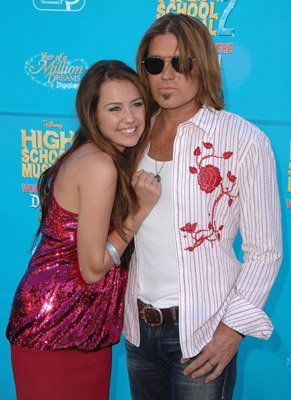 Billy Ray Cyrus and Miley Cyrus at event of High School Musical 2 (2007)