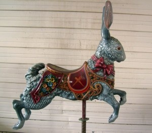 Antique~Dentzel Carousel rabbit