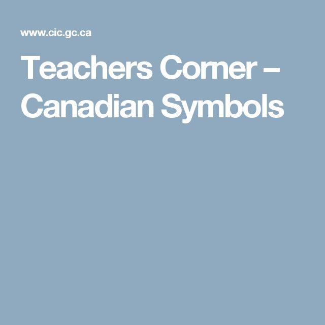 Teachers Corner – Canadian Symbols