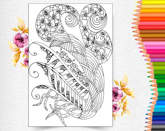 Coloring Pages for Adult, Adult Coloring Pages, Adult Coloring Book, Grown Up Color Book, Art Therapy, Zentangle, Anti Stress Coloring