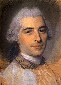 Study for portrait of unknown man, mid 18th C by Maurice Quentin de La Tour