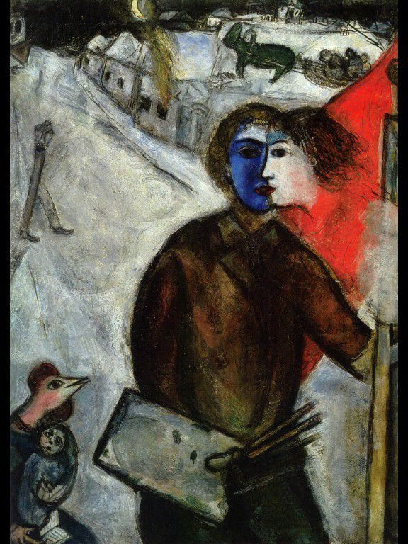 Marc Chagall, Hour between Wolf and Dog (Between Darkness and Light), 1938 (surrealism)