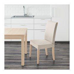 HENRIKSDAL Chair, birch, Linneryd natural - - - IKEA