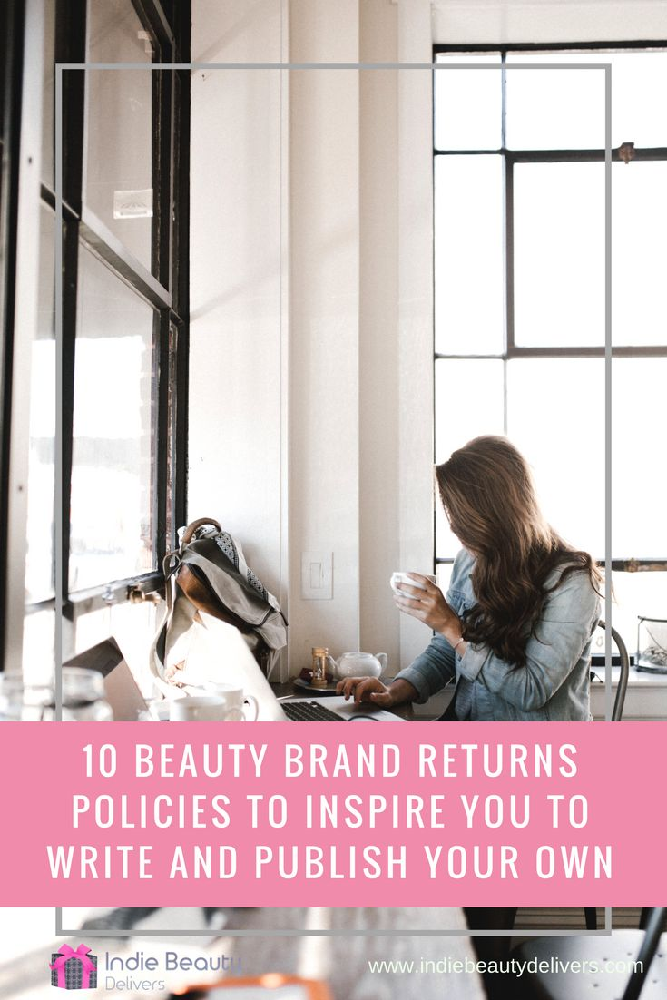 10 beauty brand returns policies to inspire you to write and publish your own