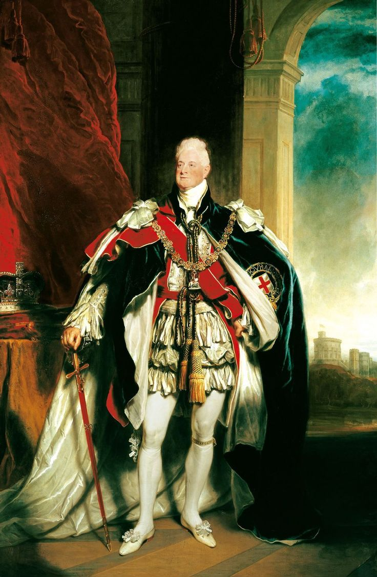 William IV, King of the United Kingdom of Great Britain and of Hanover; by Sir Martin Archer Shee, c. 1833. Son of King George III of Great Britain.