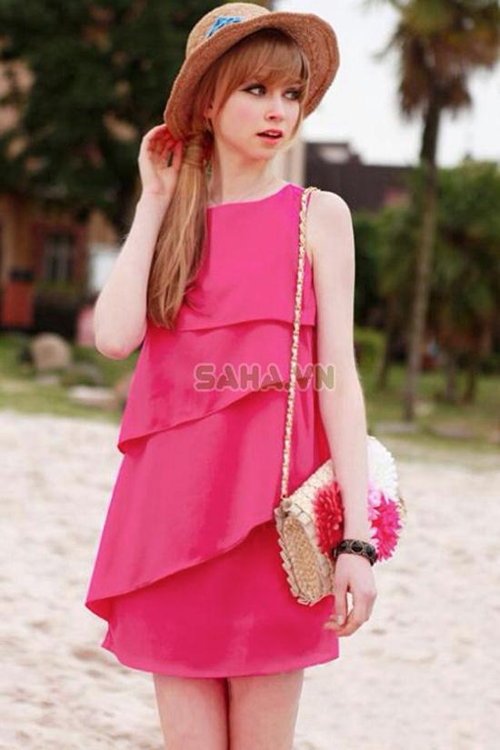 Đầm Pinky xếp tầng khuyến mãi giảm giá rẻ nhất 145.000 VND