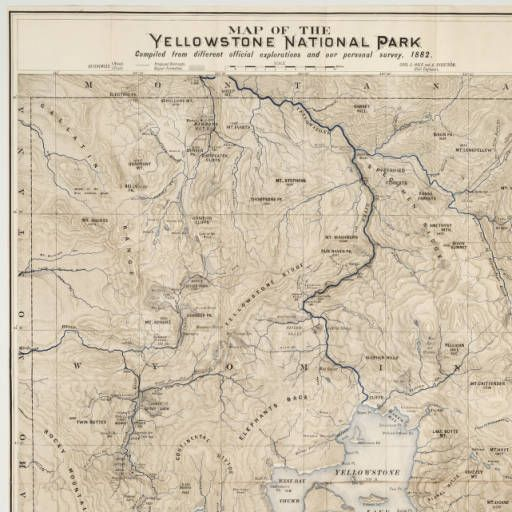 The 25 Best Ideas About Map Of Yellowstone On Pinterest