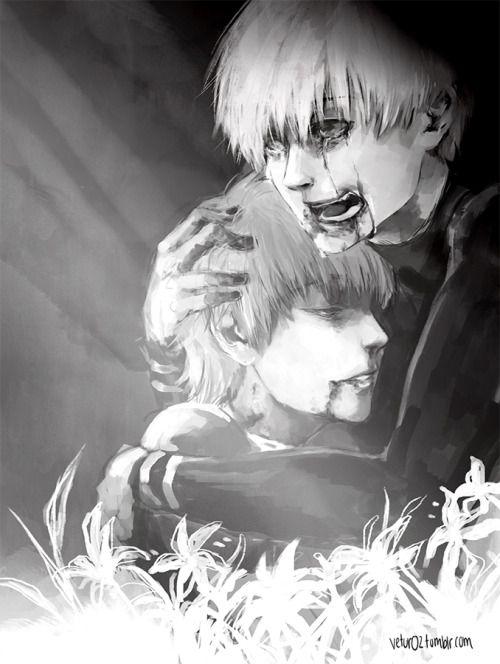 Hide and Kaneki     Tokyo Ghoul Fan Art by vetur02 on Tumblr