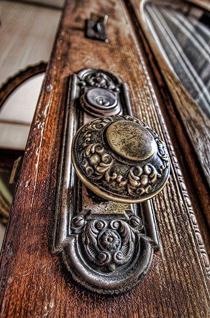 Victorian door knob - so beautifully intricate.