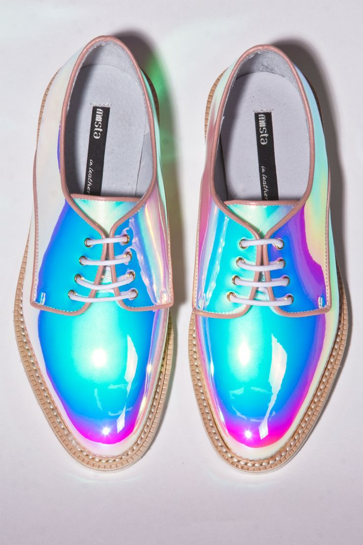 Miista Shoes Zoe in Holographic Opal | Thrifted & Modern