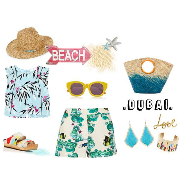 THE BEACH DUBAI by alcalams on Polyvore featuring moda, Elizabeth and James, M Missoni, Alice + Olivia, Kendra Scott, Elena Meyer, Lanvin, Saks Fifth Avenue, Karen Walker and onboard